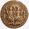 Moulage du sceau de François II et Marie Stuart, roi et reine de France 1 - Archives Nationales - SC-D100.jpg