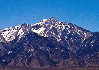 Mount Williamson - Mount Williamson as seen from Manzanar in the Owens Valley