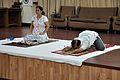 Mrs Manekar and Anil Shrikrishna Manekar - Sasankasana - International Day of Yoga Celebration - NCSM - Kolkata 2015-06-21 7366.JPG