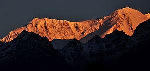 Kabru - Mt. Kabru at sunrise, Sikkim (2013).