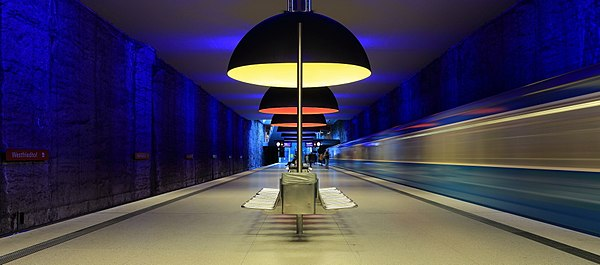 Munich subway station Westfriedhof