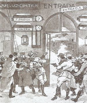 1893 in Portugal -  Sidonio Pais murdered by José Júlio da Costa at Lisboa-Rossio Railway Station