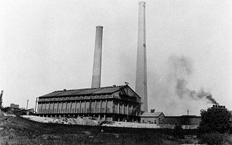 Murray, Utah - Murray's landmark smoke stacks, circa 1920s