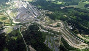 Nürburgring - Aerial photograph of GP-Strecke