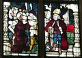 Nürnberg Lorenzkirche - Haller-Fenster 5b Jesus vor Kaiphas.jpg