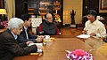 N. Chandrababu Naidu meeting Union Minister for Finance, Corporate Affairs and Information & Broadcasting, Shri Arun Jaitley, in New Delhi. The Minister of State for Science and Technology and Earth Science.jpg