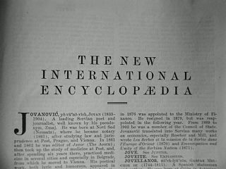 <i>New International Encyclopedia</i> American encyclopedia first published in 1902