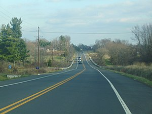 New Jersey Route 12 in Hunterdon County.