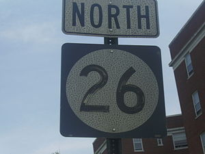 New Jersey Route 26 - 1965 shield of NJ 26 on its newer alignments of CR 691 and NJ 171