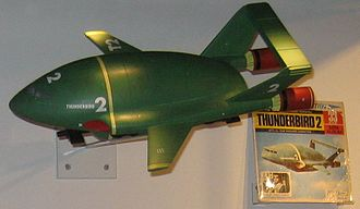 Thunderbirds machines - Thunderbird 2 on display at the National Media Museum