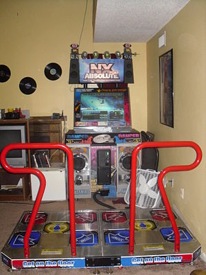 Pump It Up (video game series) - An NX Absolute machine in the GX cabinet