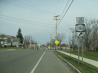 New York State Route 63 - NY 63 north near NY 262 in Oakfield