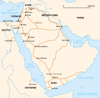 Pre-Islamic Arabia - Nabataean trade routes in Pre-Islamic Arabia