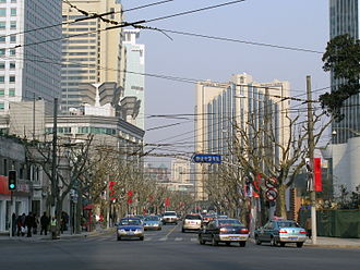 Jing'an District - Image: Nanjing Road Changde Road