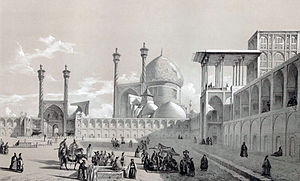 Liberation of Isfahan - Image: Naqsh e Jahan Square by Eugène Flandin
