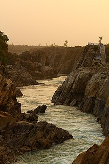 Narmada River A river of central India in a rift valley
