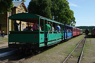 Anykščiai - Narrow gauge railway - Anykščiai railway station