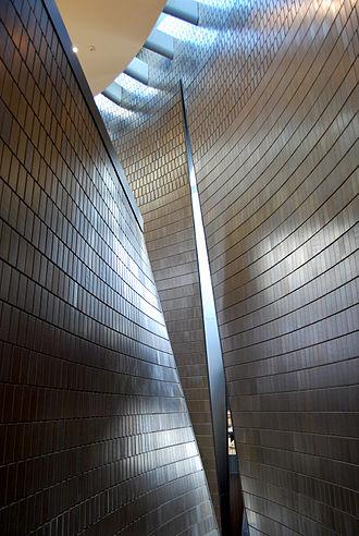 Brad Cloepfil - Interior construction photo of the National Music Centre of Canada, Calgary, Alberta. Architect: Brad Cloepfil / Allied Works Architecture