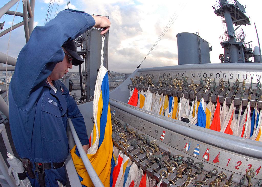 File:Nautical signal flags - USS Bonhomme Richard (LHD 6 ...