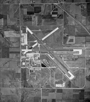 Naval Air Station Olathe - Aerial view of NAS Olathe in 1944