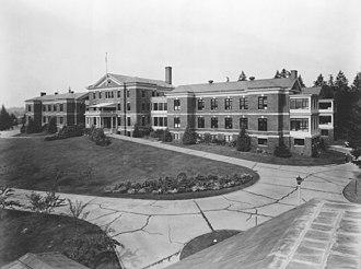 Hospital Reservation Historic District - Naval Hospital at Puget Sound Navy Yard in 1938