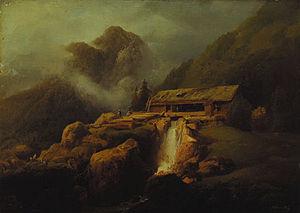 Josef Matěj Navrátil - Mountainous Landscape near Vyšší Brod by Josef Matěj Navrátil, Gallery of Fine Arts in Ostrava, 1830