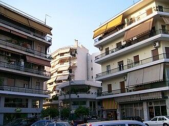 Neos Kosmos, Athens - Scene of Neos Kosmos, Athens, Greece