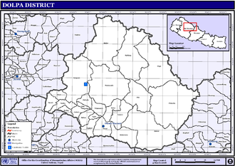 Dolpa District - Map of the VDCs in Dolpa District