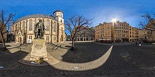 360° Neues Bach Denkmal in LeipzigAls Kugelpanorama anzeigen (Quelle: Wikimedia)