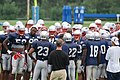 New England Patriots defensive players at 2009 training camp.jpg