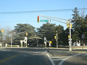New Jersey Route 71 - Route 71 at Monmouth University in West Long Branch