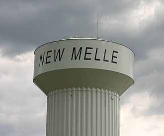New Melle, Missouri - The water tower of the city of New Melle, Missouri