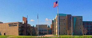 Niagara Falls High School - Image: Niagara Falls High School front of building 2010