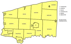 Niagara County, New York - Map of Niagara County's municipalities