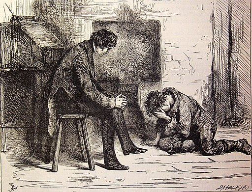 "Nicholas Nickleby, (1875?) ""Pain and fear, pain and fear for me, alive or dead, no hope, no hope."" (3986993934)"