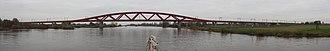 Lelystad–Zwolle railway - Image: Nieuwe spoorbrug bij Zwolle gezien vanaf de I Jssel