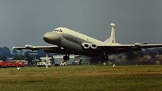 British Aerospace Nimrod AEW3 - Nimrod AEW3 at the Farnborough Airshow, 1980