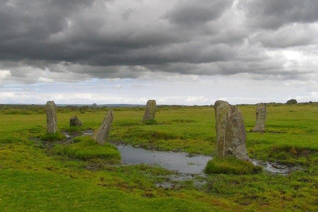 Nine Stones stone circle, East Moor - geograph.org.uk - 526315