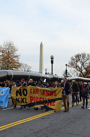 Friends of the Earth (US) - Rally against the Keystone XL Pipeline in Washington, DC