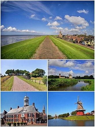 Noardeast-Fryslân - Image: Noardeast Fryslân photomontage