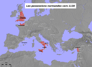 Normans possessions in the 12th century