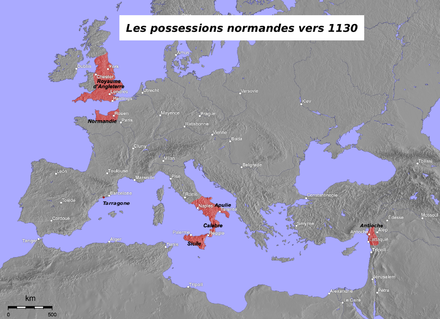 Norman possessions in the 12th century Normans possessions 12century-fr.png