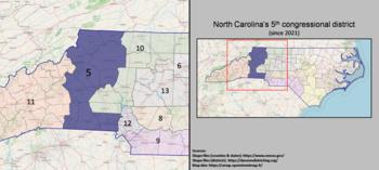 5e district du Congrès de Caroline du Nord (depuis 2021).png