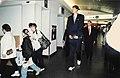 North Korean basketball player Ri Myoung-Hun arriving at Ottawa International Airport in May 1997.jpg