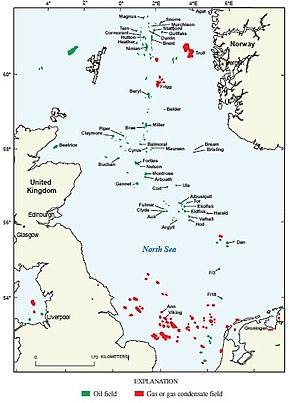 Theddlethorpe Gas Terminal - Oil and gas fields in the North Sea