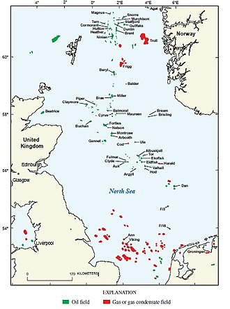 North Sea oil - North Sea Oil and Gas Fields