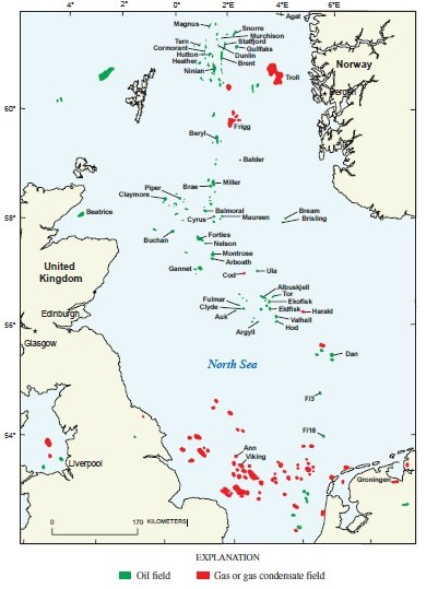 North Sea OilandGas Fields