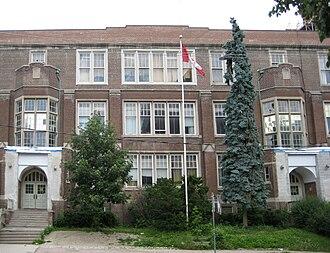 North Toronto Collegiate Institute - North Toronto Collegiate Institute's old building, the Roehampton Avenue entrance in July 2009.