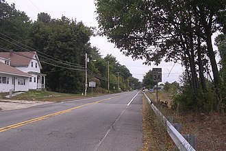 Massachusetts Route 3A - Northbound 3A entering Tyngsborough