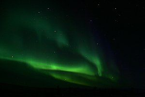 Northern lights at the Arctic Circle.